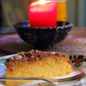 basbousa - semolina cake - flavoured with citrus