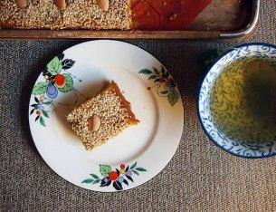 sfouf and green tea