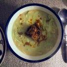 caldo verde + spiced fried tempeh