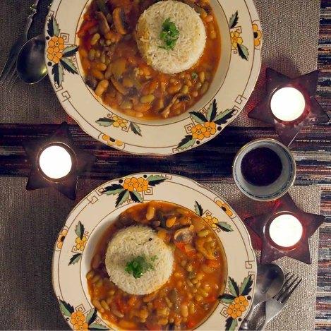 kuru fasulye + rice pilaf