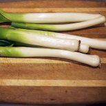 homegrown leeks