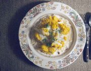cauliflower korma with basmati