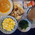 curry paste, firm tofu, coconut milk, rice, green beans, potatoes