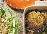potato and lentil pancakes + salad