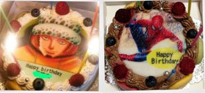 プリントケーキを特別な日に送ってみた。