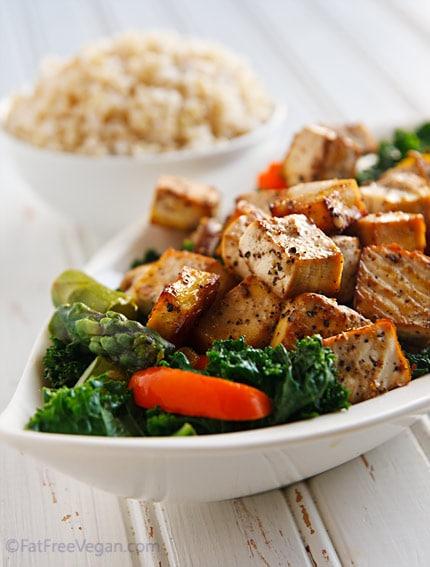 black-pepper-garlic-tofu vegan thai recipe