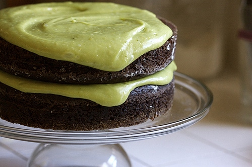 vegan avocado chocolate cake