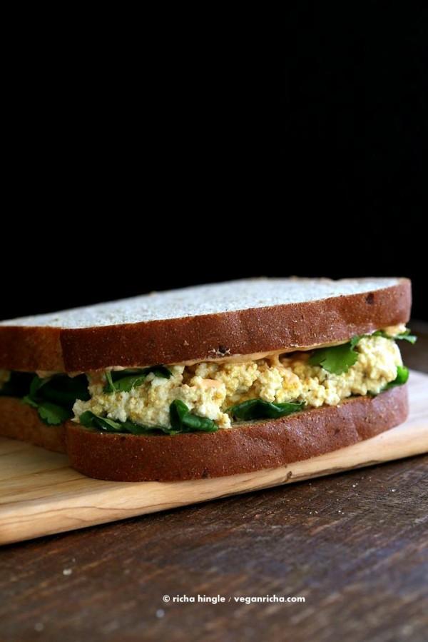 5 Minute Tofu Egg Salad Sandwich