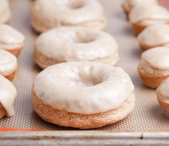 vegan peanut butter doughnut