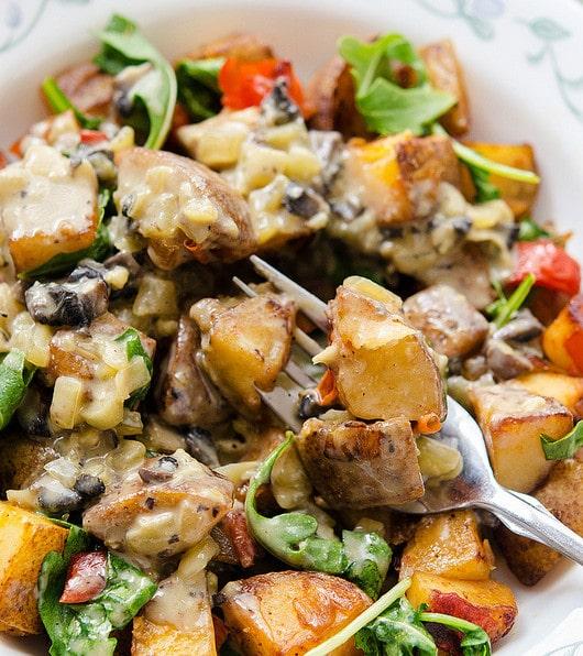 loaded vegan breakfast potatoes