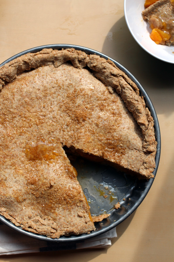 vegan peach pie recipe