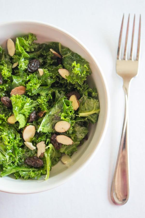 5 Minute Lemon Kale Salad
