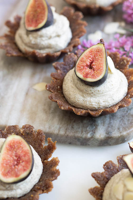 raw almond tarts