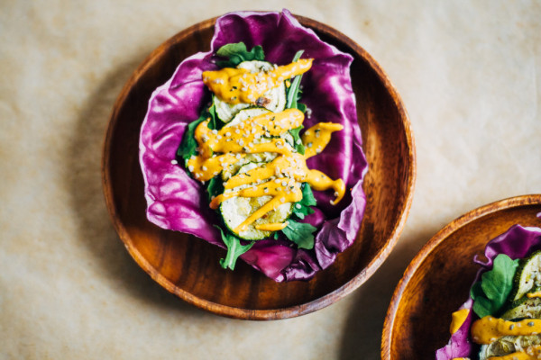 raw cabbage tacos