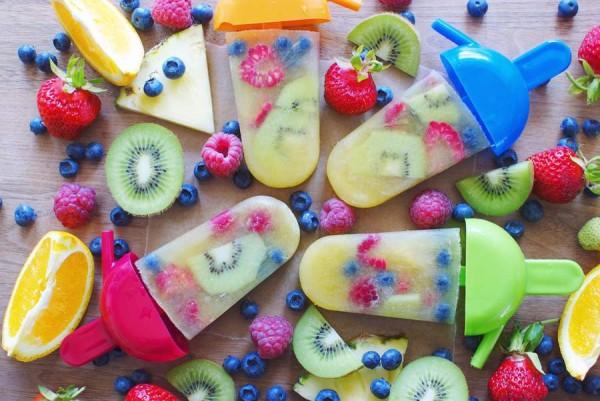raw fruit pops