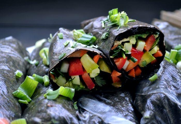 Veggie Nori Summer Rolls w/ Wasabi Mayo