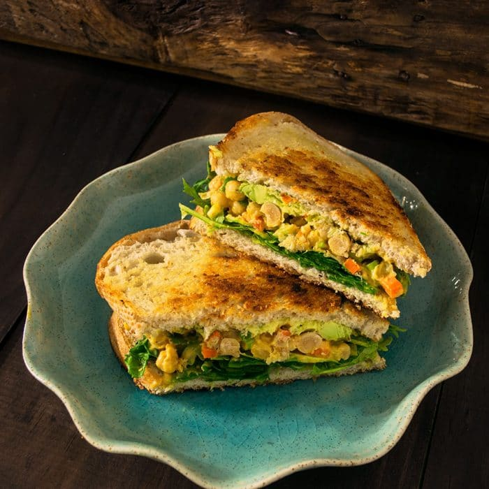 Curry Chickpea Salad Sandwich