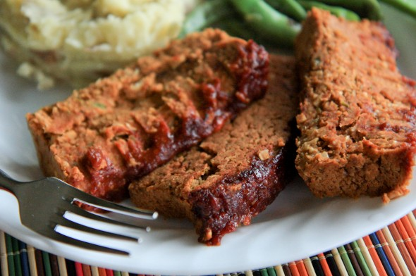 Two Bean Meatless Meatloaf