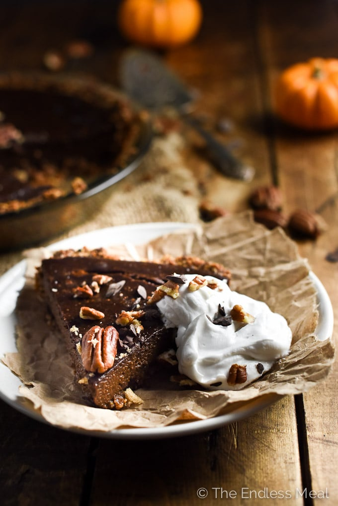 Chocolate Vegan Pumpkin Pie