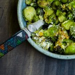 Brussels Sprouts Gratin w/ Smoky Tempeh Bacon
