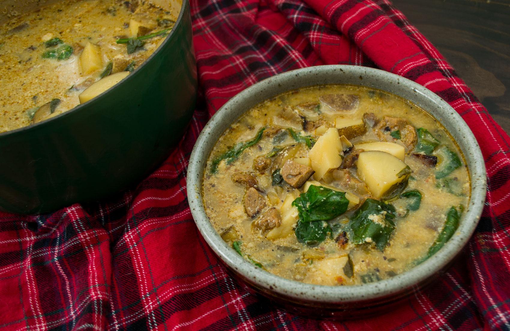 Vegan Sausage & Potato Soup