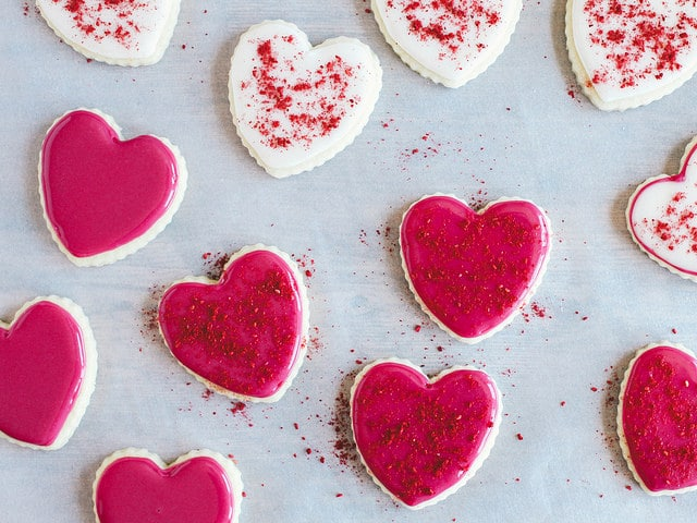 Coconut Oil Sugar Cookies with Naturally Colored Icing