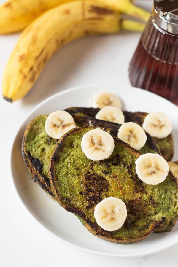 Green Smoothie Vegan French Toast