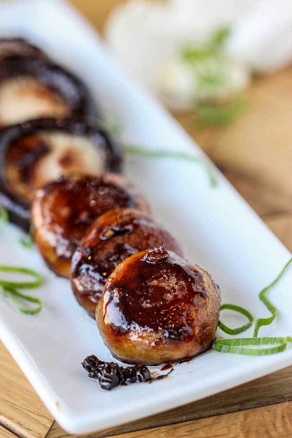 Slow Cooked Sticky Soy Mushrooms