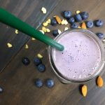 High Protein Blueberry Breakfast Smoothie