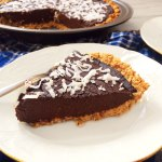 Chocolate Coconut Pie with Peanut and Oat Crust