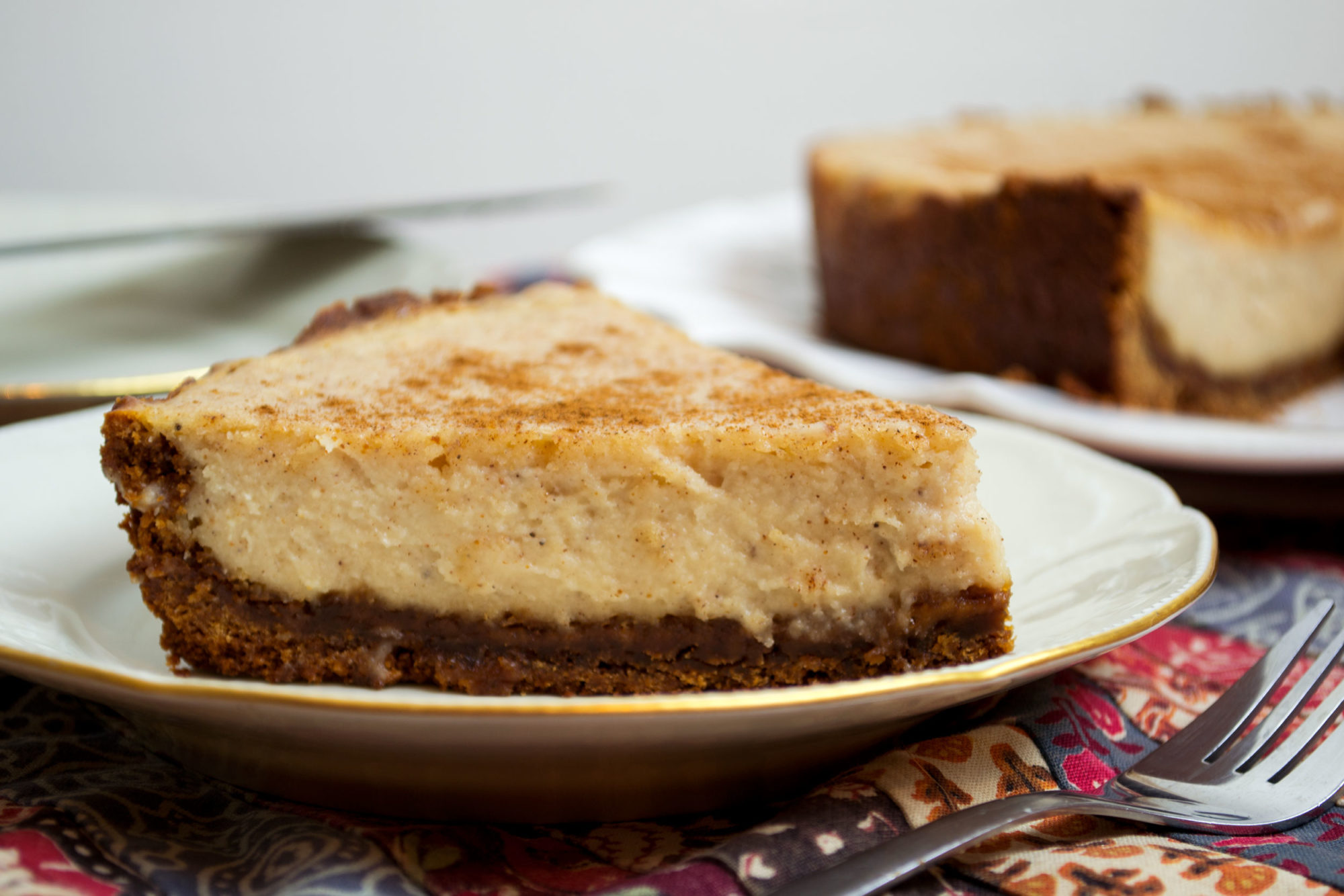 Spiced Eggnog Cheesecake