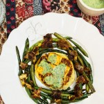 Indian-Spiced Tofu on Potato Cakes with Mint Chutney