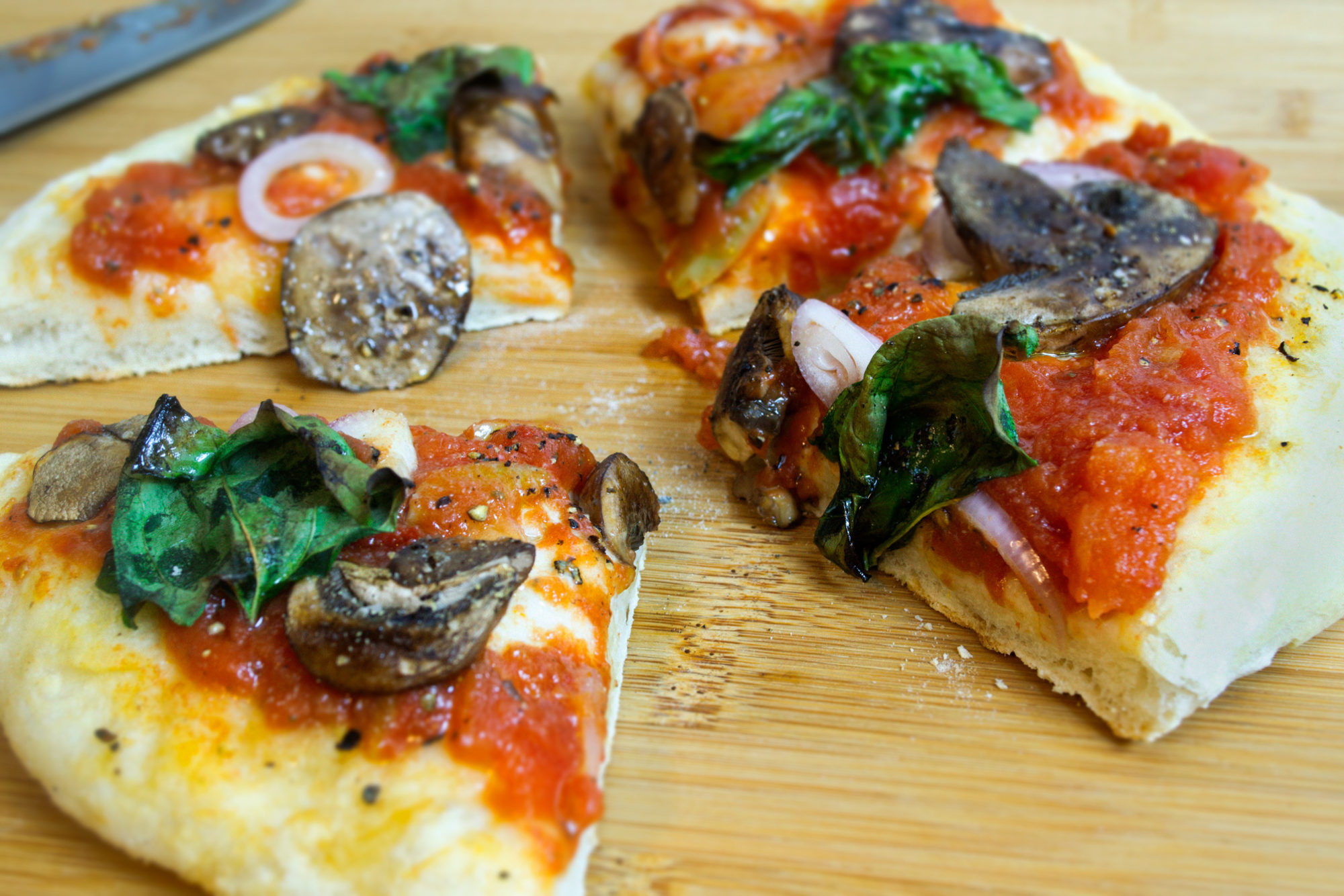 Homemade Vegan Neapolitan Pizza