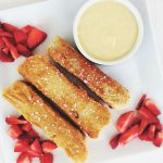 Cardamom & Cinnamon French Toast Sticks with Vanilla Lemon Curd