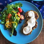 Zucchini-Carrot Fritters with Creamy Lemon Dressing