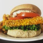 "Healthy Fast Food Style Crispy ""Chicken"" Sandwich"