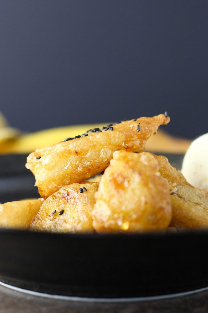 BANANA FRITTERS + LIME SYRUP