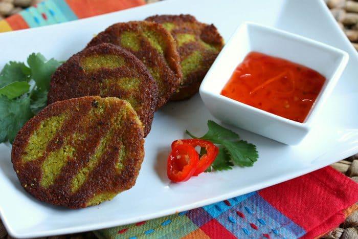 Burmese Yellow Split Pea Fritters