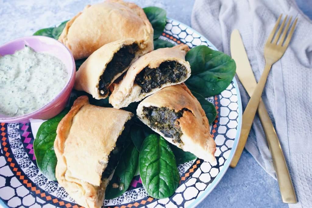 Libanesische Spinattaschen Vegan