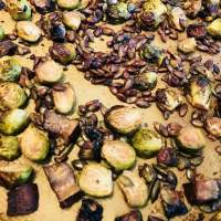 Gebakken Spruiten & Portobello