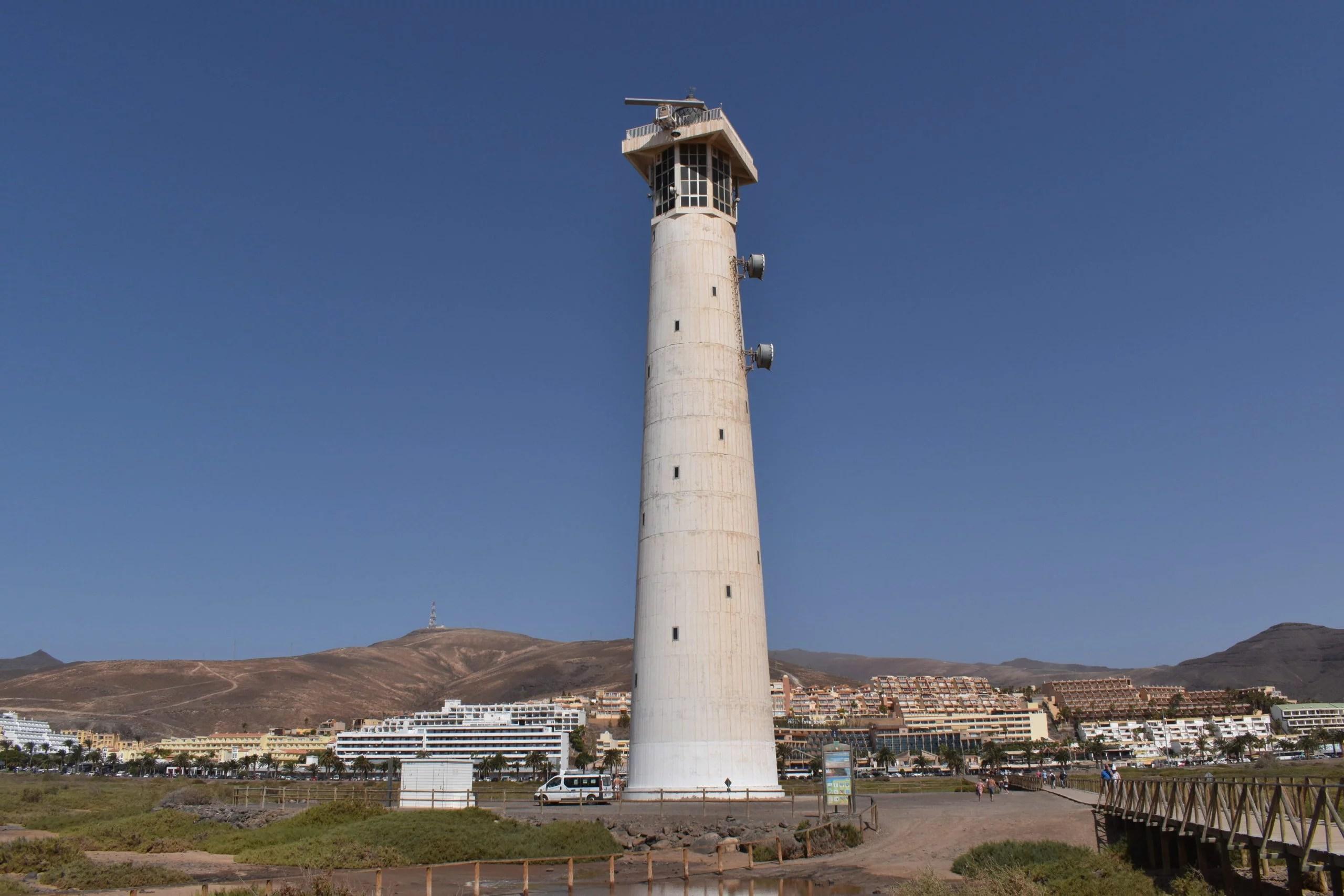 Morro Jable beach lighthouse