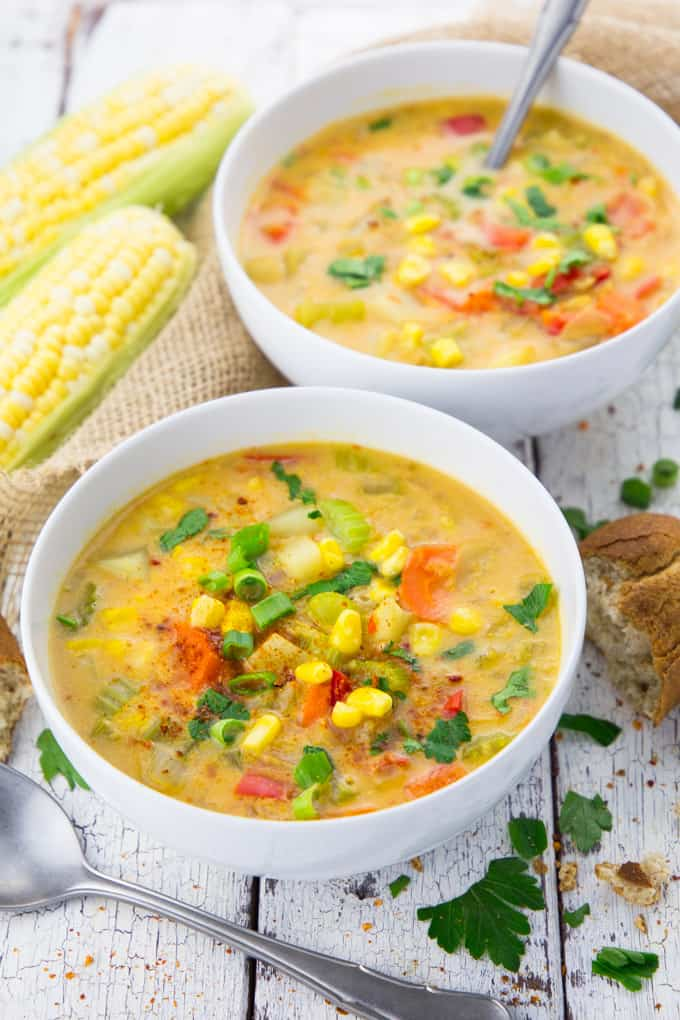 Vegan Corn Chowder with Potatoes