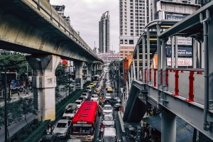 Driving in Bangkok