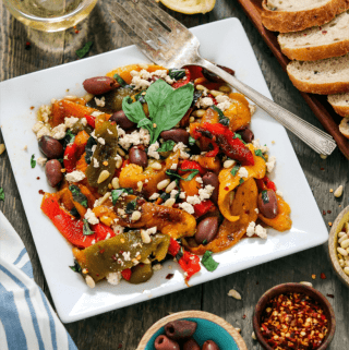 Impress your taste buds with this Roasted Pepper Salad. it's a fresh, colorful dish, bursting with sweet & smoky flavors.