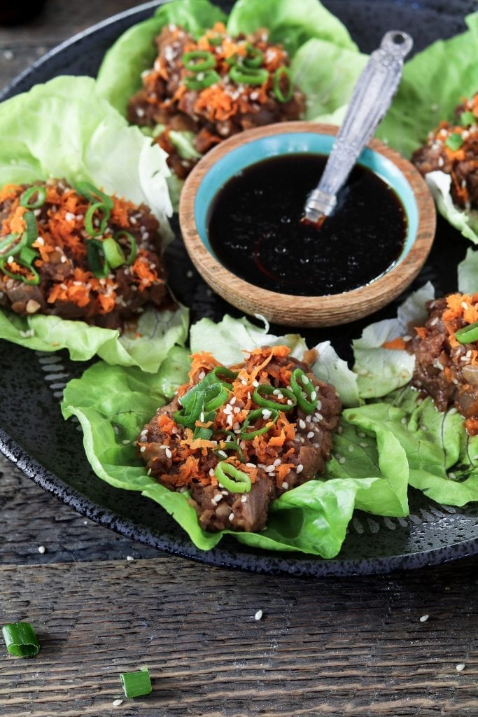 These Vegan Lettuce Wraps are light, healthy, and packed with rich umami flavor. Also, you can put them together with ease in 25 minutes or less.