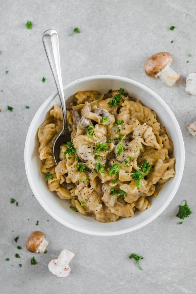 mushroom stroganoff - Easy Vegan Dinner Recipes