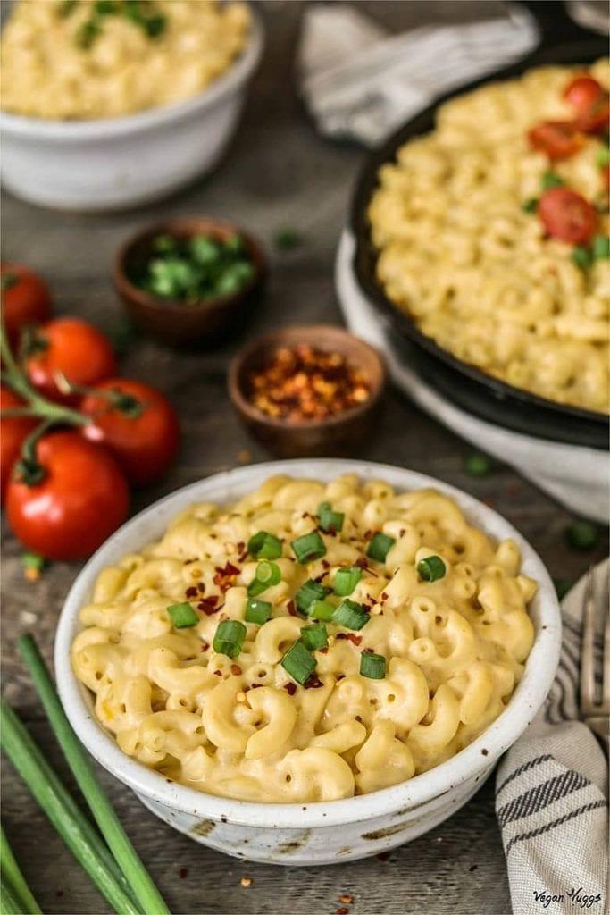 Easy Vegan Dinner Recipes - Mac n Cheese