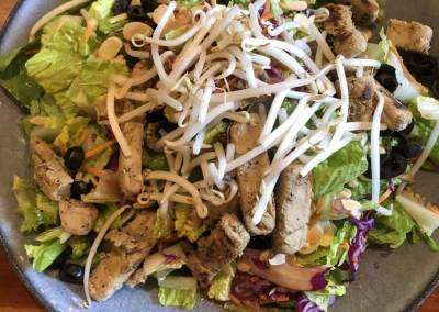 Crunchy Asian Chik'n Salad - Dinner and a Movie