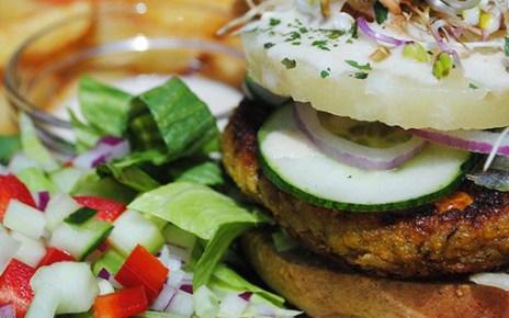 kozmosz vegán hamburger