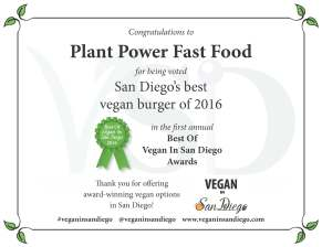 Best Burger 2016 Plant Power